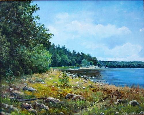 Russian Landscape by Moscow painter Elena Pokusheva