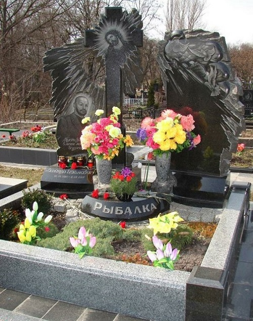 Tombstone of Russian criminal authority Rybalka