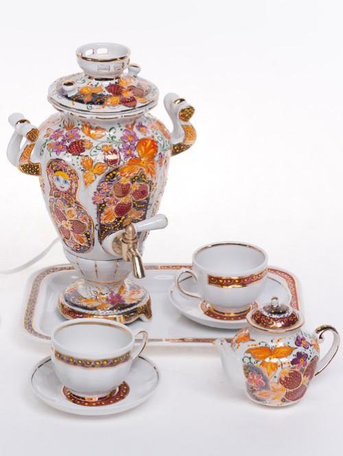 Porcelain samovar