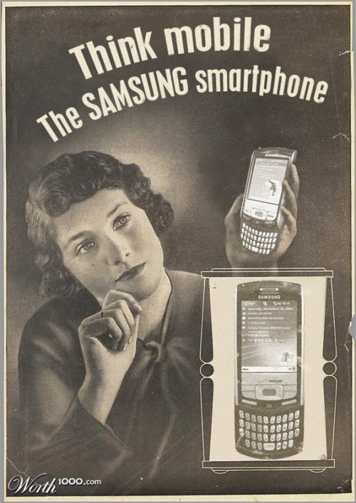 Samsung smartphone. Absurd Vintage Ads