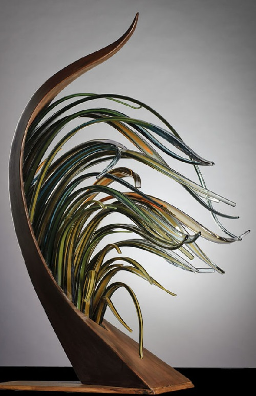 Glass sculpture by American artist Shayna Leib
