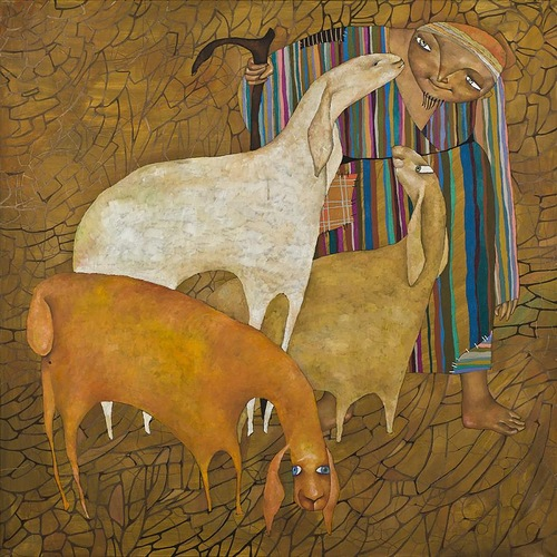 Painting by Akzhana Sheperd. Abdaliyeva, talented young artist from Kazakhstan