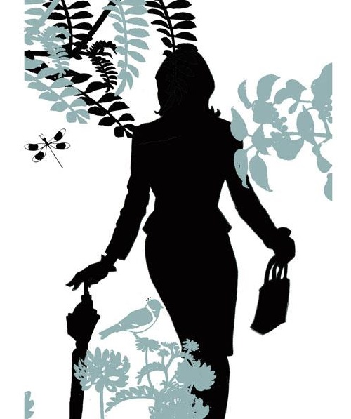 Silhouette art by Catherine de Seabra