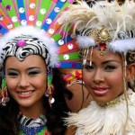 Beautiful participants of Sinulog festival