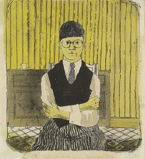 Sketched self-portrait of David Hockney sells for 22500 USD