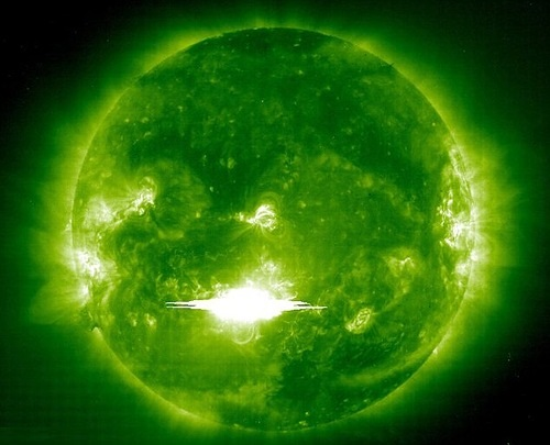 Solar flares are often associated with solar magnetic storms known as coronal mass ejections (CMEs)