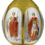 Produced in St. Petersburg Imperial Porcelain Factory Easter egg