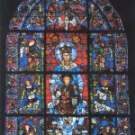 Gorgeous stained glass windows of the Cathedral of Our Lady of Chartres, located in Chartres, France. 1194-1225