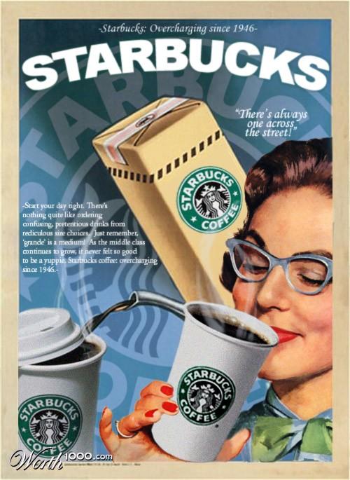 Starbucks. Absurd Vintage Ads
