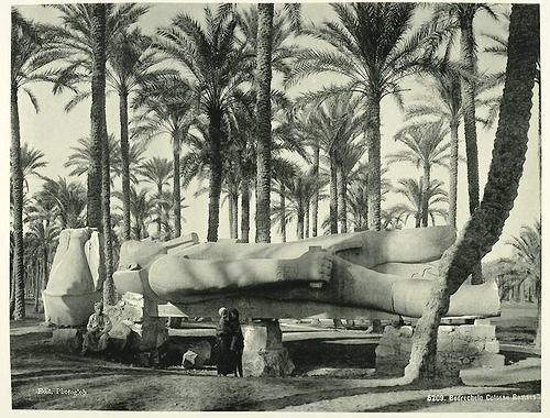 Statue of Ramses II, Lower Egypt. Egypt in retro photographs of 1870