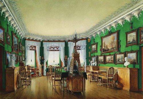 Study of the Emperor Nicholas I. Watercolor on paper. Hermitage. Artist Eduard Hau