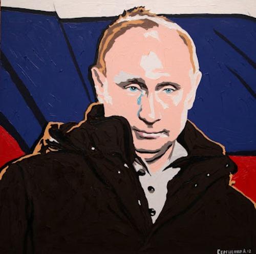 Tears in the wind. victory night. Painting by Russian artist Alexei Sergiyenko, St. Petersburg