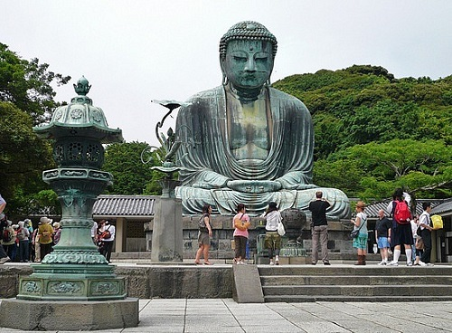 The Great Buddha of Kamakura. Bronze Buddha of Kamakura of Kotokuin Temple