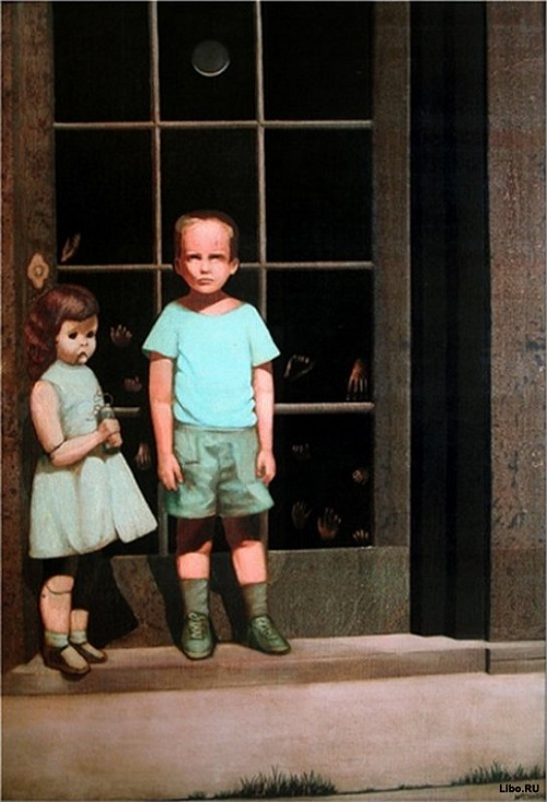 The Hands Resist Him, 1972. Painting by California artist Bill Stoneham