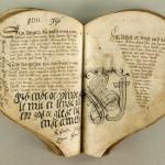 Denmark 1550's. The Heart Book is regarded as the oldest Danish ballad manuscript