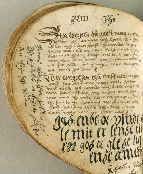 The Heart Book. Denmark 1550's. The Heart Book is regarded as the oldest Danish ballad manuscript