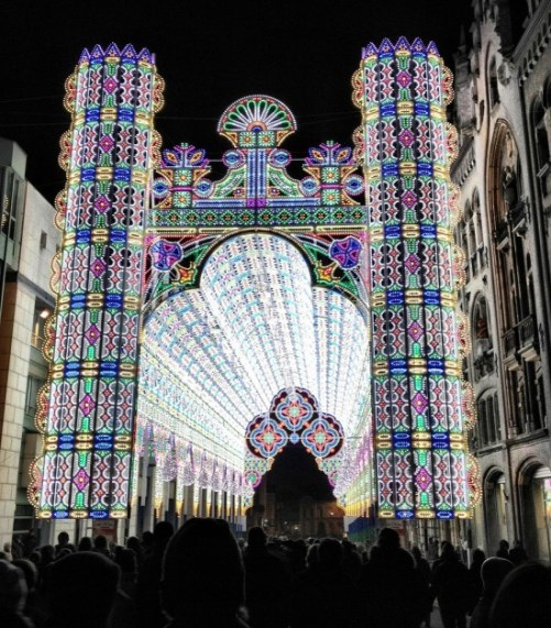Cathedral Made from LED Lights