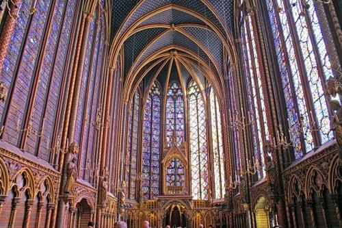 The Royal medieval Gothic chapel St-Chapelle, Paris