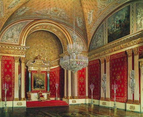 The Winter Palace. Peter Hall, 1863 Watercolor on paper. Hermitage. Artist Eduard Hau