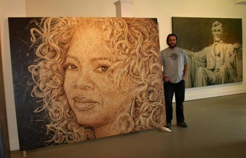The Woven fabric Painting by Cuban artist Alexi Torres