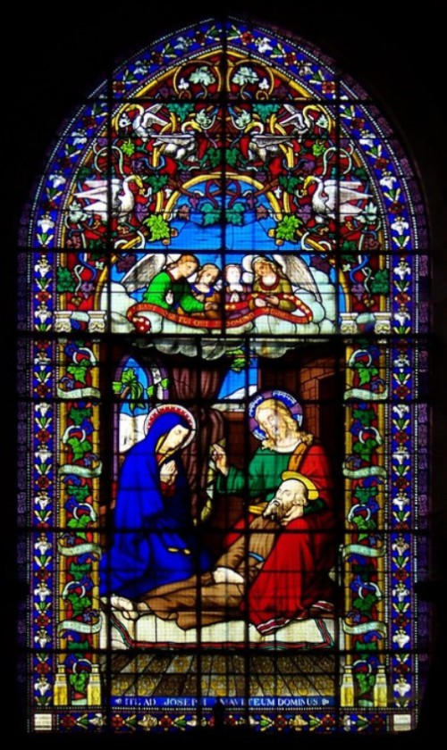 The death of Joseph (the Virgin Mary and Christ), in the chapel of the church of Sts. Peter and Paul, Ablis, France