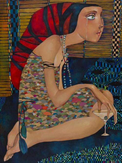 paintings by Akzhana Abdaliyeva
