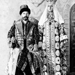 The last Emperor of Russia Nicholas II and Alexandra, wearing national costumes at the last Imperial Ball