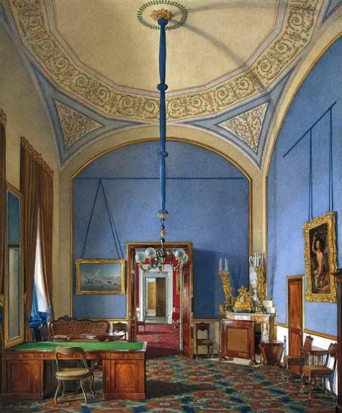 The second additional half of office. Hermitage. Artist Eduard Hau