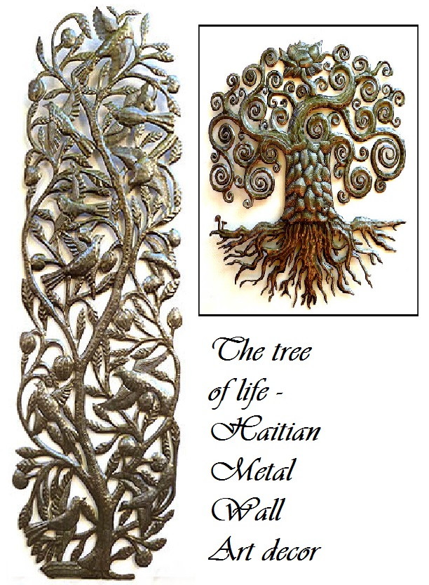 The Tree Of Life   Haitian Metal Wall Art Decor