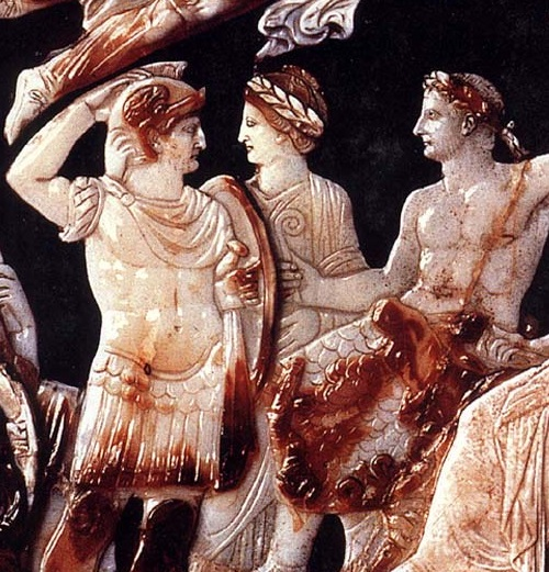 The world's largest cameo (cameo Tiberius) detail