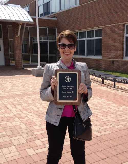 This weekend I was inducted into my High School's Hall of Fame! Here is the proof - my plaque.