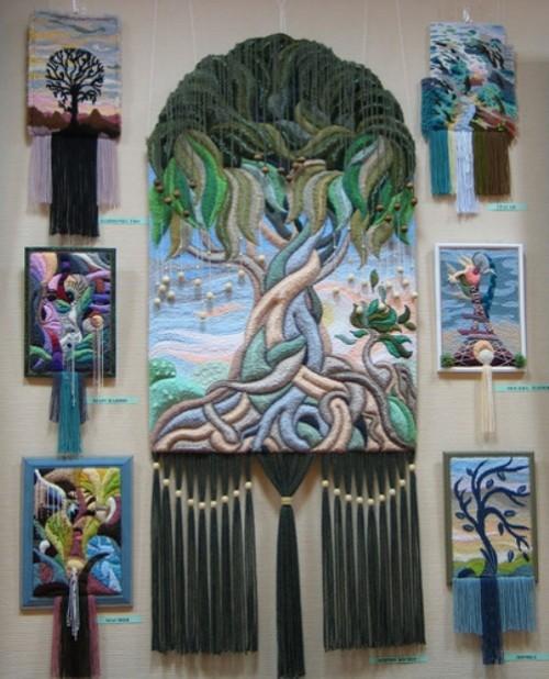 Three-dimensional non-woven tapestry by Armenian artist Yuri Hovsepian