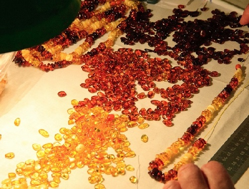 To become a part of a beautiful necklace or something. Apart from jewelry, amber is used as an ingredient in perfumes and as a healing agent in folk medicine