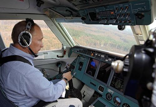 Vladimir Putin as a pilot