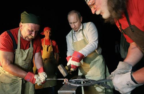 Vladimir Putin as a smith