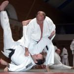 Master of Sport in judo, Vladimir Putin doing martial arts