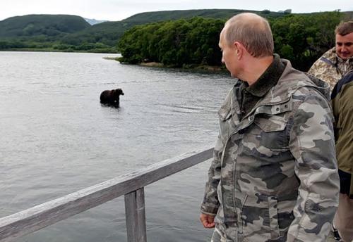 Vladimir Putin on Kamchatka