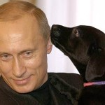 Black dog and Vladimir Putin