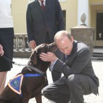 Traditionally, dogs talk to president of Russia