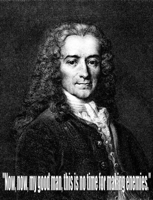 Voltaire (21 November 1694 – 30 May 1778), French Enlightenment writer, historian and philosopher