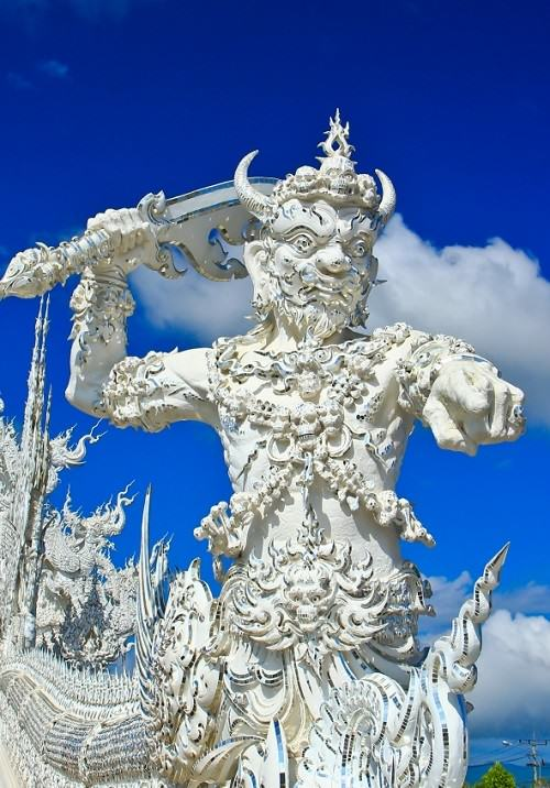 Wat Rong Khun temple sculpture