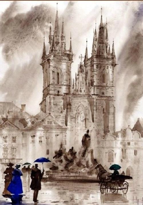London in Watercolors by Sabir and Svetlana Gadzhievs