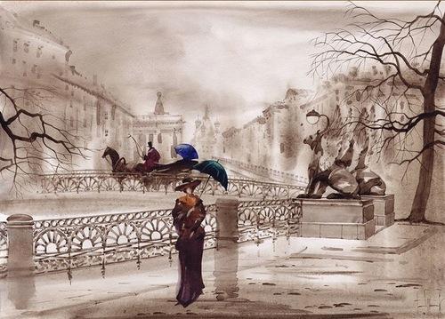 Watercolors by Gadzhievs - Sabir and Svetlana