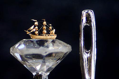 Willard Wigan's micro-sculptures