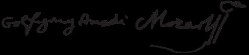 Wolfgang Amadeus Mozart signature