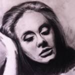 Adele, pencil drawing by Lolochou