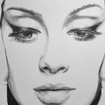Adele, pencil drawing by Tiarnana