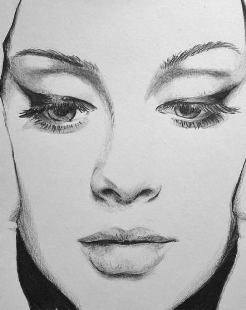 Adele, pencil drawing by Tiarnana