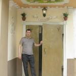 Resident of 9 storey building, Russian artist Konstantin Nikolaev