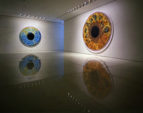 Eyes as windows to the world. Oil painting by British artist Marc Quinn
